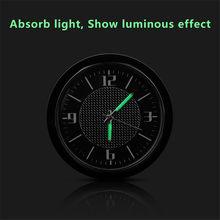 Todos os tipos do emblema do carro relógios ornamentos respiradouros de ar do relógio automático tomada clipe relógio para B-MW a-udi b-enz n-issan h-onda f-ord etc.