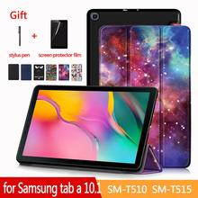 Case for Samsung Galaxy Tab A 10 1 SM-T510 T515 Tablet Adjustable Folding Stand Cover for Samsung Galaxy Tab A 10 1 2019 Case cheap XINYITONG Protective Shell Skin 10 1 CN(Origin) for Samsung Galaxy Tab A 10 1 2019 (SM-T510 SM-T515) Solid 24 9cm Casual