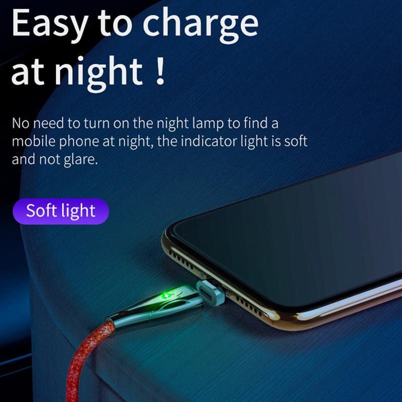 HOCO մագնիսական usd մալուխ iPhone 11 Pro XS Max X 7 6 - Բջջային հեռախոսի պարագաներ և պահեստամասեր - Լուսանկար 3