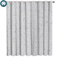 Modern Geometric Mesh Curtains Large Window Living Room Curtains Kitchen Indoor Window High Blackout Curtain