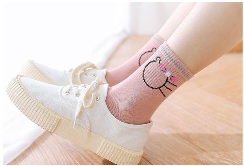 5 Pairs / Batch Spring And Autumn Women's Leisure Socks Cotton Socks Comfortable Socks