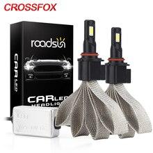 CROSSFOX S7 Auto samochód H4 żarówka Led H13 9004 9007 880 H3 H11 9005 9006 H7 H1 LED reflektor światła lampa COB 12V 6000K żarówki stylizacja