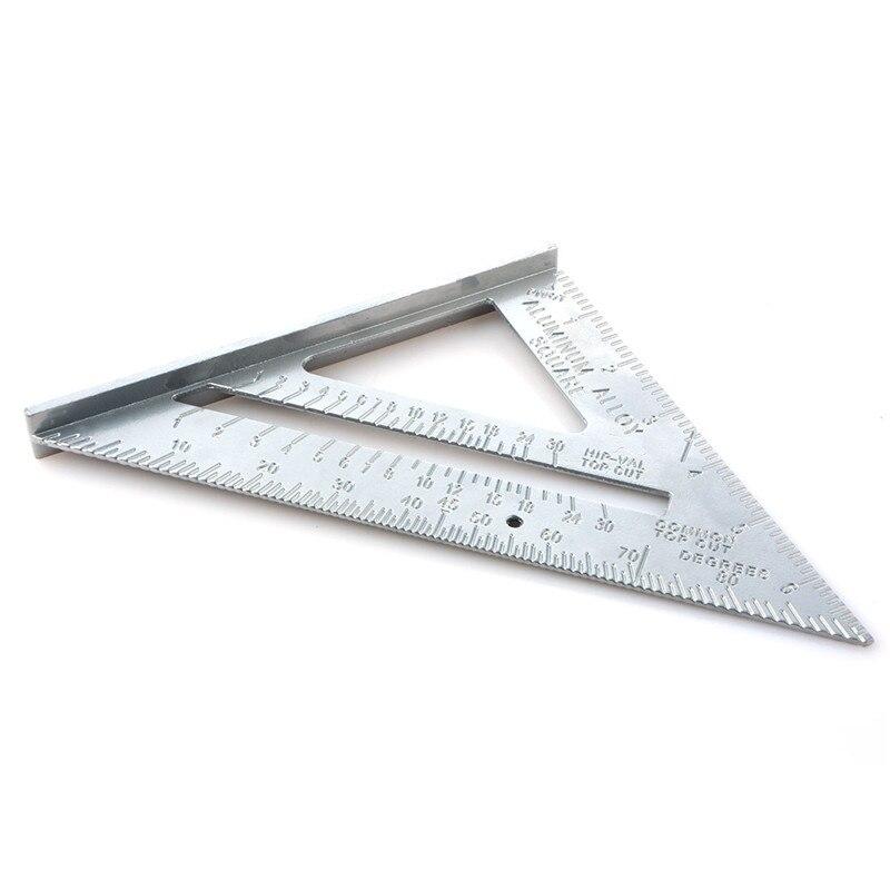 Профессиональный транспортир 7 дюймов алюминиевый сплав плотничная треугольная линейка метрический дюйм 90 градусов 45 градусов квадратная ...
