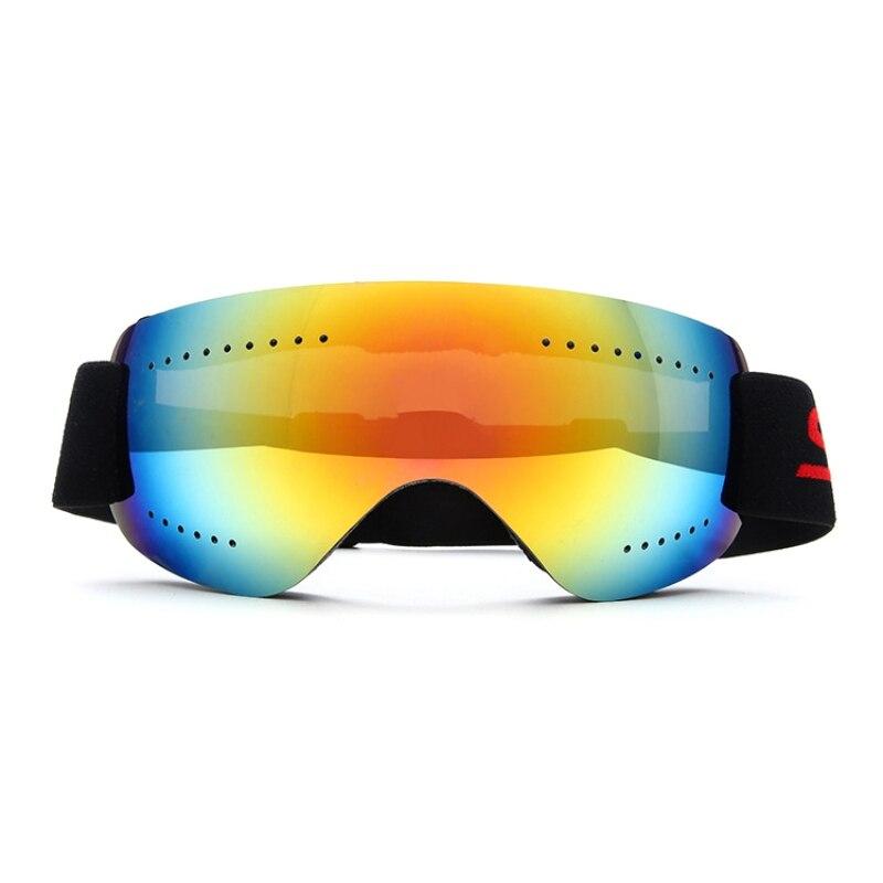 Frameless Ski Snowboard Goggles Anti Fog UV Protection With Adjustable Elastic Head Band Motorcycle Glasses Road Racing Eyewear