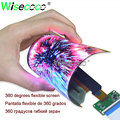 1920*1080 6 inch oled IPS flexible soft screen display 450 nits 360 degree rollable with HDMI micro USB mipi driver board