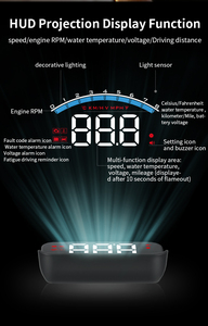 Image 4 - WiiYii HUD M6S Car Head up display Auto Electronics KM/h MPH OBD2 Overspeed Security Alarm windshield Projector display car