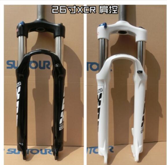 Folding Bike Spring Forks Manual Hydraulic Lockout Suspension Bike Fork 1-1//8