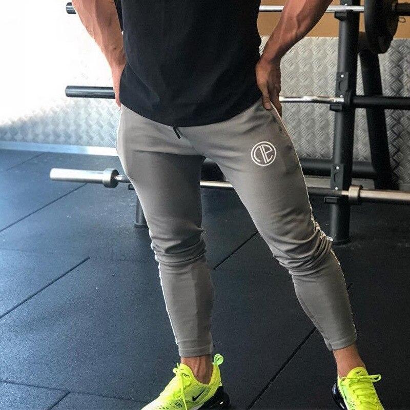 2019 Newest Mens Sweatpants Man Fitness Bodybuilding Joggers Workout Trousers Men Casual Cotton SweatPants