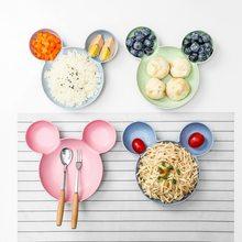 Podzielony talerz dla dzieci śliczne kreatywne naczynia domowe talerz dla dzieci śniadanie płytki talerz AT103