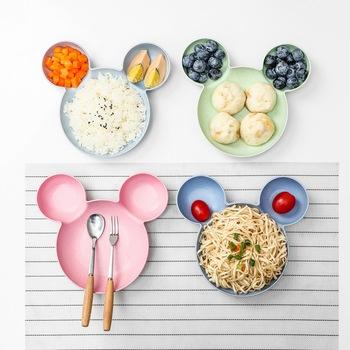 Podzielony talerz dla dzieci śliczne kreatywne naczynia domowe talerz dla dzieci śniadanie płytki talerz AT103 tanie i dobre opinie cartoon Kwiat Z tworzywa sztucznego