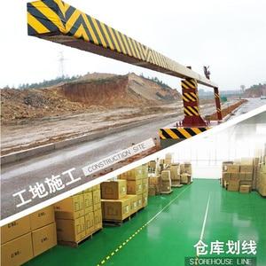 Image 2 - 33M חזק pvc אזהרת בטיחות קלטת שחור צהוב עמיד למים עצמי דבק מתיחה סימון קלטת עבור מפעל מחסן מקום עבודה