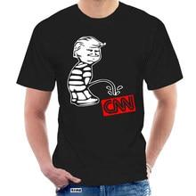 T Shirt Trump işemek CNN komik tişört Tabloid sahte haber Anti medya kuruluş Kek 7814W