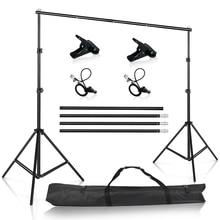 Fotografia Studio Backdrops stojak przenośny zestaw wsparcia tła dla Photo Studio muślin Backdrops płótno z torba do przenoszenia