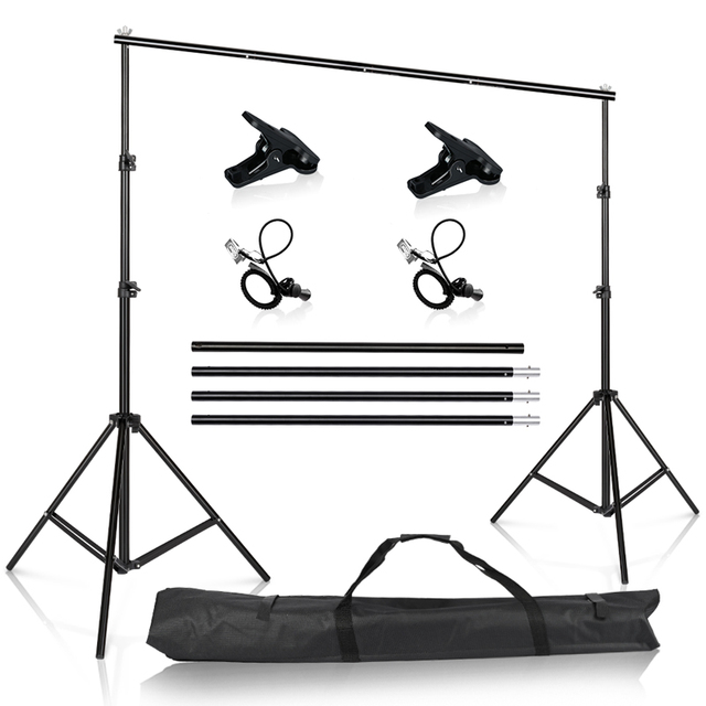 Photography Studio Backdrops Stand Portable Background Support kit for Photo Studio Muslin Backdrops Canvas with Carrying Bag