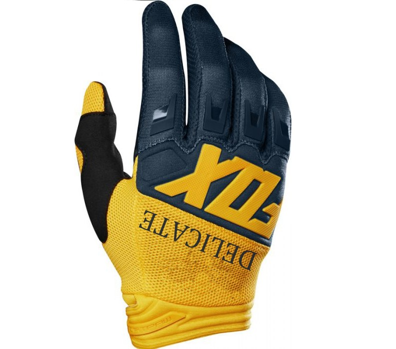 Motocross MTB Bike Cycling Moto Delicate Fox Motorcycle Black Yellow Gloves