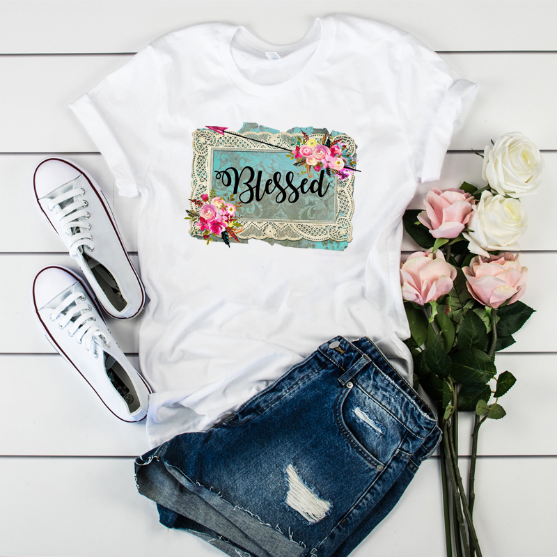 Female Printed  Vintage Soul Flower Truck Short Sleeve Fashion Ladies Camisas Mujer Womens T Tee T-shirt Women Graphic T-shirt