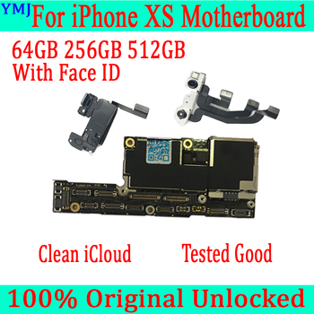 Pełna testowana dobra dla iPhone XS płyta główna z/bez płyty głównej ID ID odblokowana dla iPhone XS płyta główna 64GB 256GB 512GB