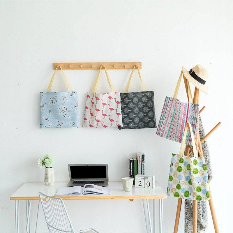 Ladies Girls Casual Canvas Shoulder Bags Popular Cotton Linen Environmental Ladies Shopping Bags New