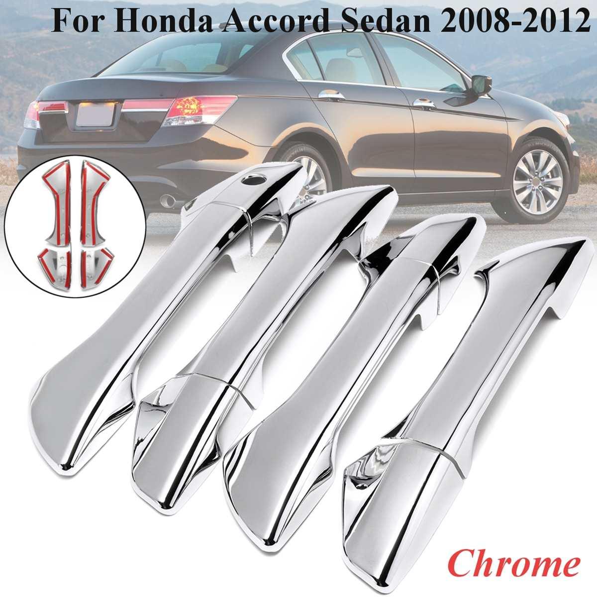 NEW 2008 2009 2010 2011 2012 Honda Accord Chrome 4  Door Handle Covers Trim 08