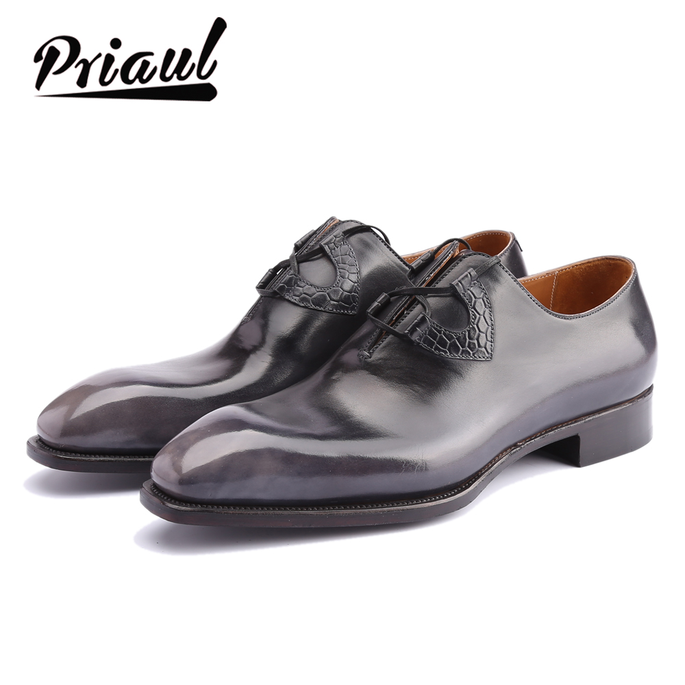 2020 Sapato Italian Mens Dress Shoes Luxury Genuine Leather Fashion Vintage Retro Party Formal Business Wedding For Men Eu38-48