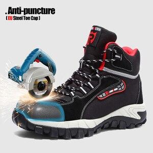 Image 2 - LARNMERN Mens รองเท้าทำงานเหล็กความปลอดภัยรองเท้าสบายน้ำหนักเบา Anti Smashing ลื่นป้องกันการก่อสร้างรองเท้า