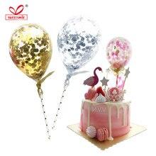 10pcs 5 אינץ קונפטי עוגת לטקס בלונים עגול שקוף בלון שמח יום הולדת חתונה קישוטי תינוק מקלחת ספקי צד
