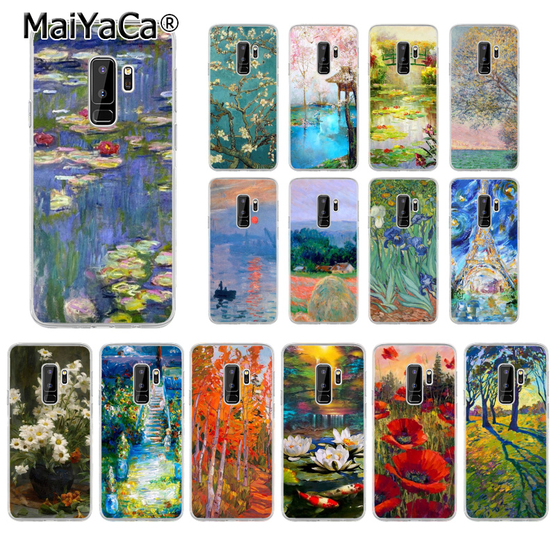 MaiYaCa Claude Monet Oil Painting Sunflower TPU Soft Phone Cell Case for Samsung S9 S7 S6 S5 S8 Plus edge