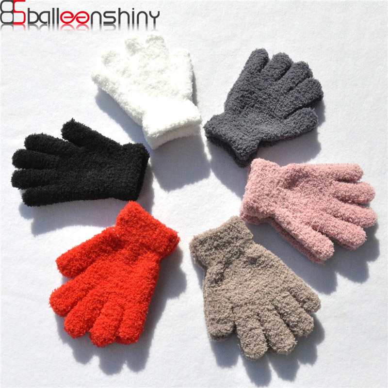 BalleenShiny Baby Winter Soft Coral Gloves Toddler Thicken Candy Color Mittens Glove For Boys&Girls Headwear Accessories|Gloves & Mittens| |  - title=