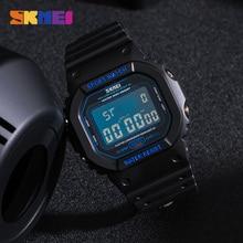 SKMEI 1134 Top marka mężczyźni elektroniczny zegarek na rękę chronograf świecący cyfrowy mężczyzna Sport zegarki 50m wodoodporny zegar Montre homme