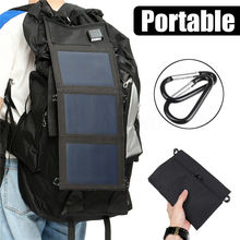 20W 5V Solar Panels Waterproof Dual USB Portable Solar Panel Charger Solar Cells Battery Charger for