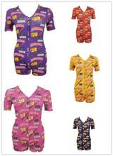 WomenS Short Summer Short-Sleeved Deep V Sexy Bodysuit Women Pajamas Cartoon Pattern Swimsuit 2020 New Female Body Shein Mujer