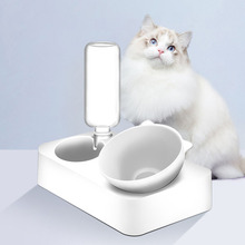 Cat Bowl High Quality Round Pet Feeding Drinking Bowls For Dogs Cat Pet Feeder White Protects Cervical Spine Health Dust-proof