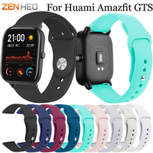 20mm Silicone Strap For Xiaomi Huami Amazfit Lite Bip Bit Lite Youth Watchband Wrist Band For Huami Amazfit GTS Watch Band