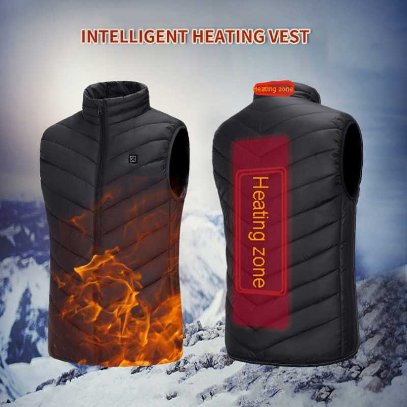 Heating Vest Washable Usb Charging Heating Warm Vest  Jacket Control Temperature Outdoor Camping Hiking Golf