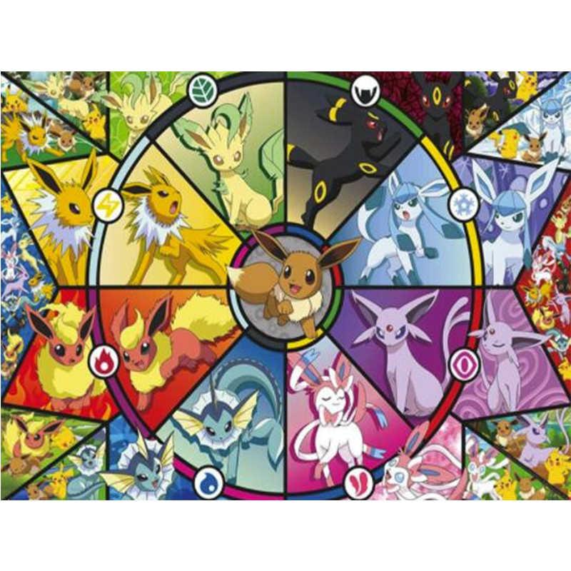5D DIY יהלומי ציור קריקטורה פוקימון צלב תפר רקמת יהלומים מלא יהלומי ריינסטון בית תפאורה חדש הגעה אמנות C1381