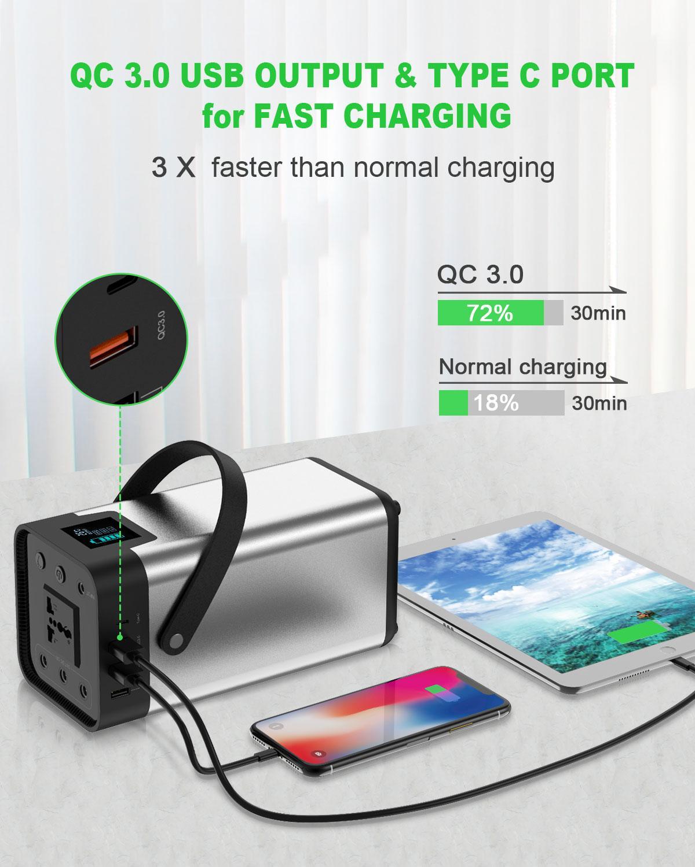 Banco de energía 54000mAh batería externa AC/DC/USB/tipo-c generador portátil de salida múltiple para ventilador de TV, refrigerador de coche, portátil, etc. - 4
