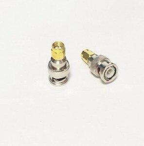 2 pces ouro-chapeado cobre bnc macho para sma macho plug conector bnc/SMA-JJ rf adaptador coaxial