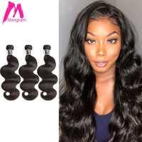 Feixes de cabelo humano brasileiro 8 a 30 40 polegada extensão do cabelo não remy natural curto onda do corpo cabelo longo tecer 1 3 4 peças