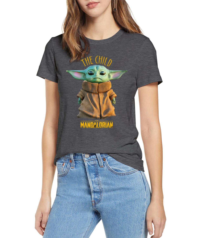 2019 Unisex Hot Sale  Short Shirt Lovely Yoda Baby T-shirt Mandalorian Star Wars Fan Gift Xmas Funny Tops