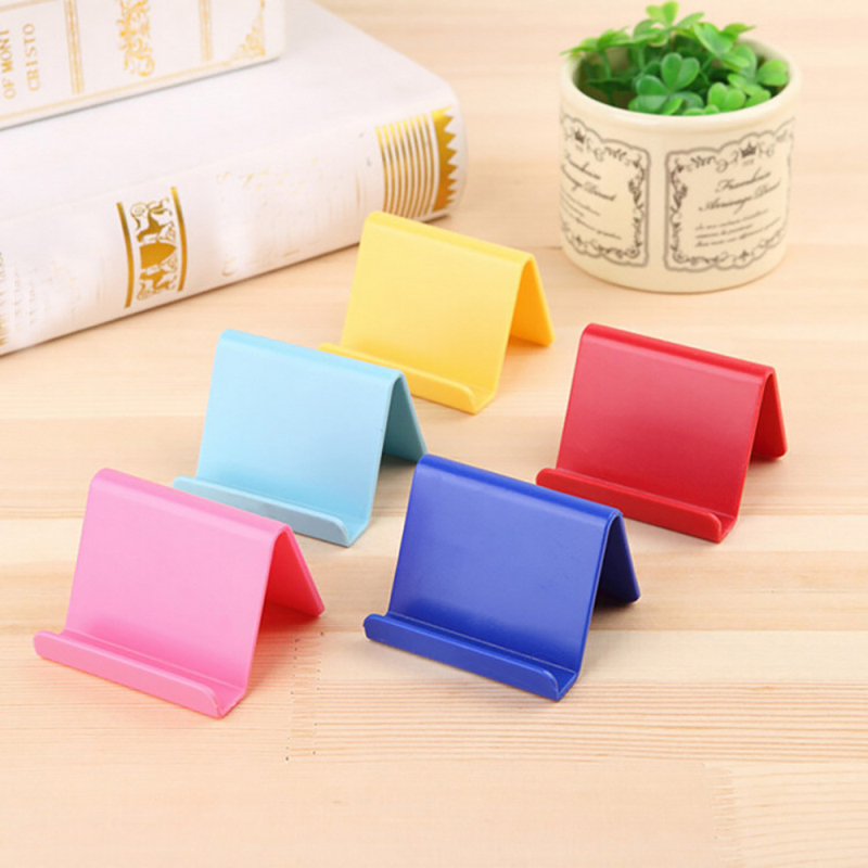 Mobile Phone Holder Table Desktop Mini Portable Stand Plastic Desk Mount Candy Colors Fixed Holder Universal Bracket