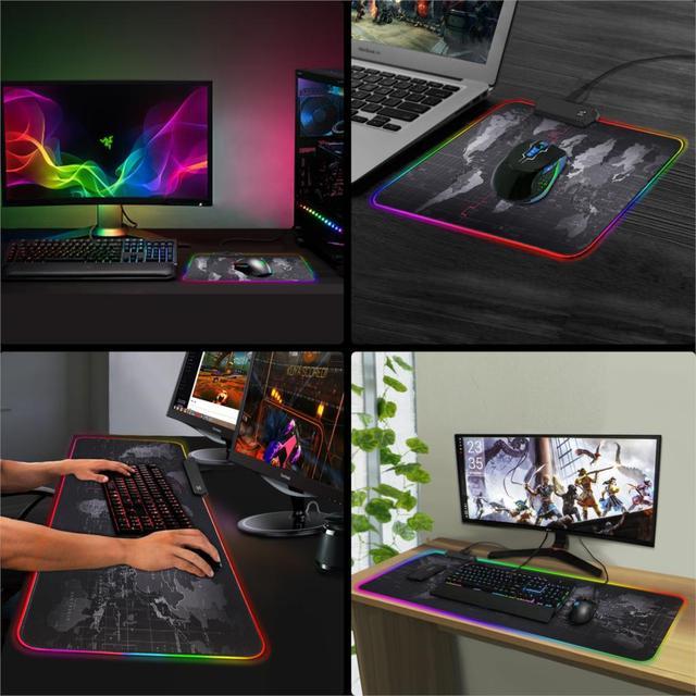 Gaming Mouse Pad RGB di Grandi Dimensioni Del Mouse Pad Gamer Grande Mouse Zerbino Computer Mousepad Retroilluminazione A Led XXL Superficie Mause Pad Tastiera scrivania Zerbino 6