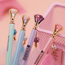 1Pcs Creative Diamond Feather Pendant Mechanical Pencil Automatic Pencil Student Stationery germany staedtler 925 mechanical pencil animation graphics mechanical pencil 0 3 0 5 0 7 0 9 mm 1pcs