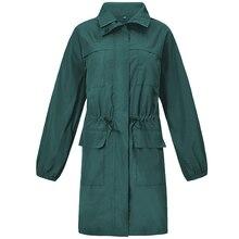 цена Autumn Womens Trench Coats Zippers Pockets Classic Long Coat Women Sashes Office Windproof Clothing Trench Coat Para Mulheres онлайн в 2017 году
