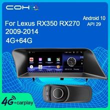 COHO لكزس RX350 RX270 2009 2014 Autoradio لتحديد المواقع والملاحة سيارة مشغل وسائط متعددة أندرويد 10.0 ثماني النواة 4 + 64G