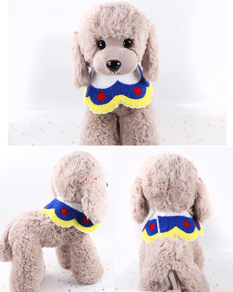 Regolabile Pet Dog Cat Saliva Del Tovagliolo di Pizzo Decorativo Bib Tessuti a Mano Collare Del Cucciolo Gattino Fazzoletto da Collo Della Sciarpa