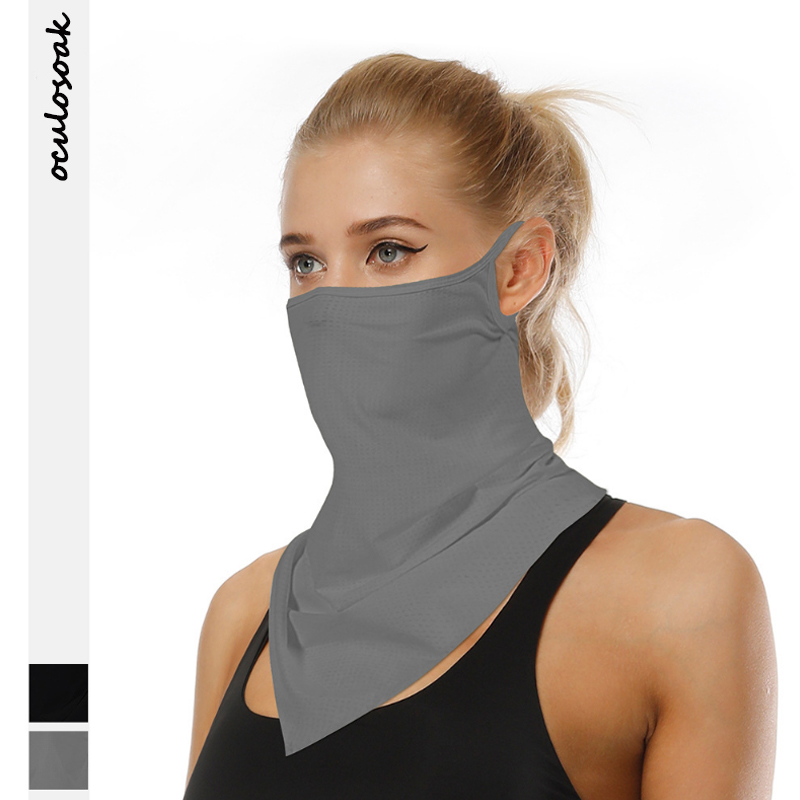 Explosive New Product Solid Color Outdoor Sports Riding Sunscreen Insect Repellent  Multifunctional Hanging Ear Scarf