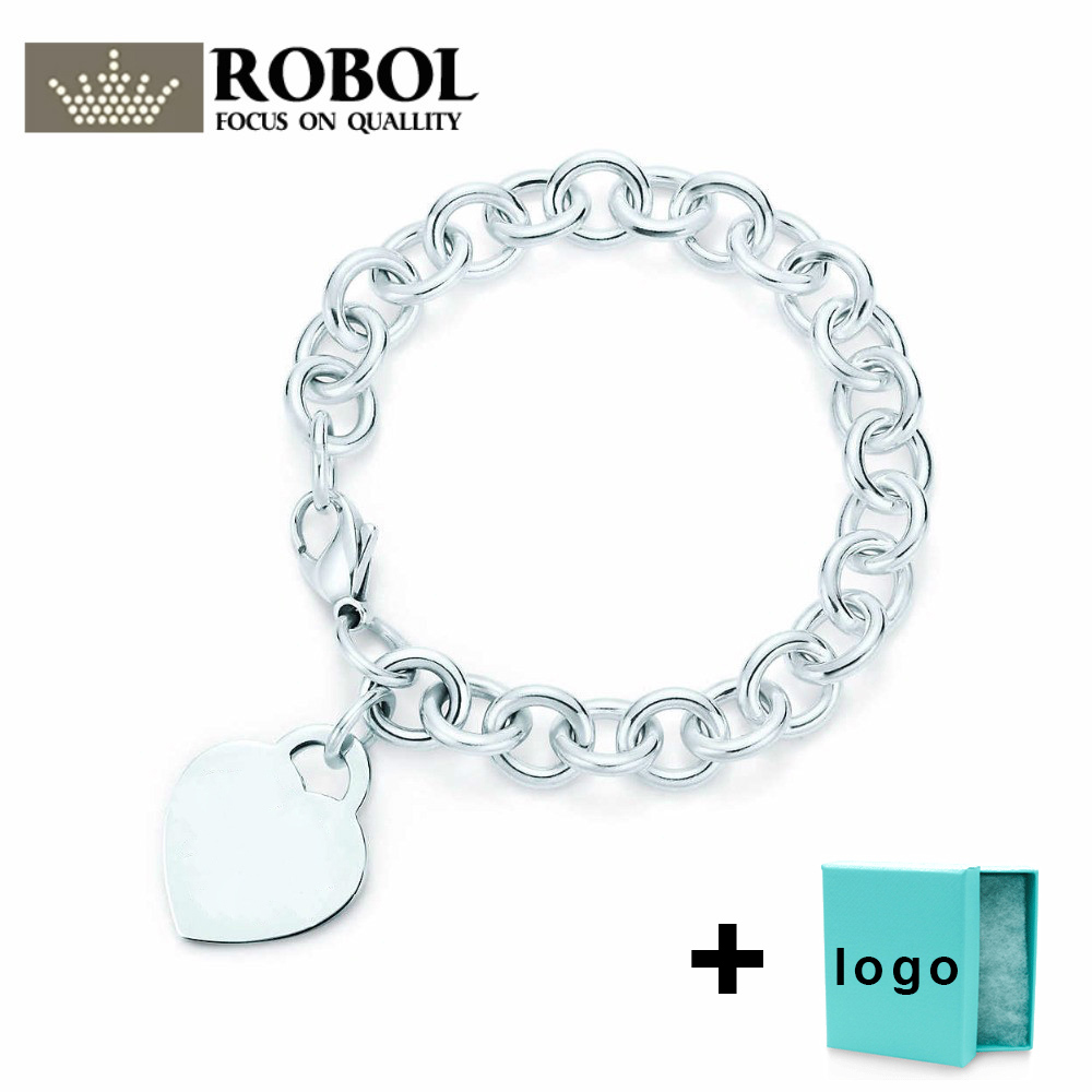 SL TFB TIFF Rllen Original 925 Sterling Silver Love Classic Engraved Bracelet, Suitable For Free Delivery Of Women's Party.