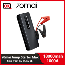 2020 Hot Sell 70mai Jump Starter Max 18000mah 1000A Power Bank Car 8.0L Charger Charger