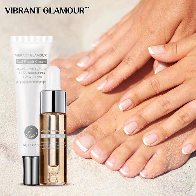 VIBRANT GLAMOUR Nail Care Set Nail Repair Cream Anti Fungus Nail Toe Repair Serum Nail Fungus Treatment Onychomycosis Removal
