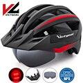 Шлем VICTGOAL для велосипеда  для мужчин и женщин  MTB  дорожный велосипедный шлем  светодиодный USB Перезаряжаемый светильник  горный  дорожный ко...